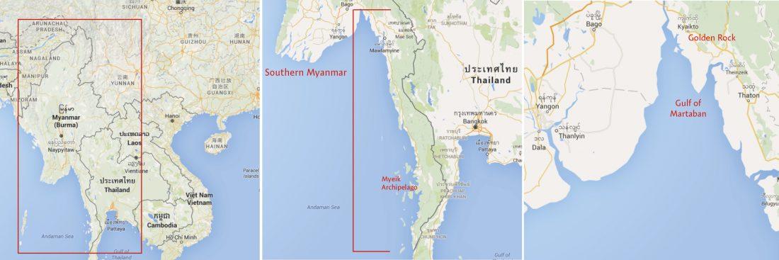 Map Southern Myanmar